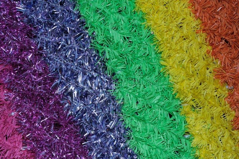 Modello del tipo di tappeto tagliente variopinto astratto, colori degli arcobaleni del brigh, piccoli tubi immagine stock libera da diritti