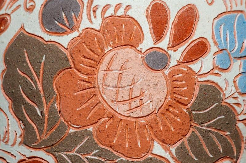 Modello del vaso delle terraglie dell'argilla fotografia stock