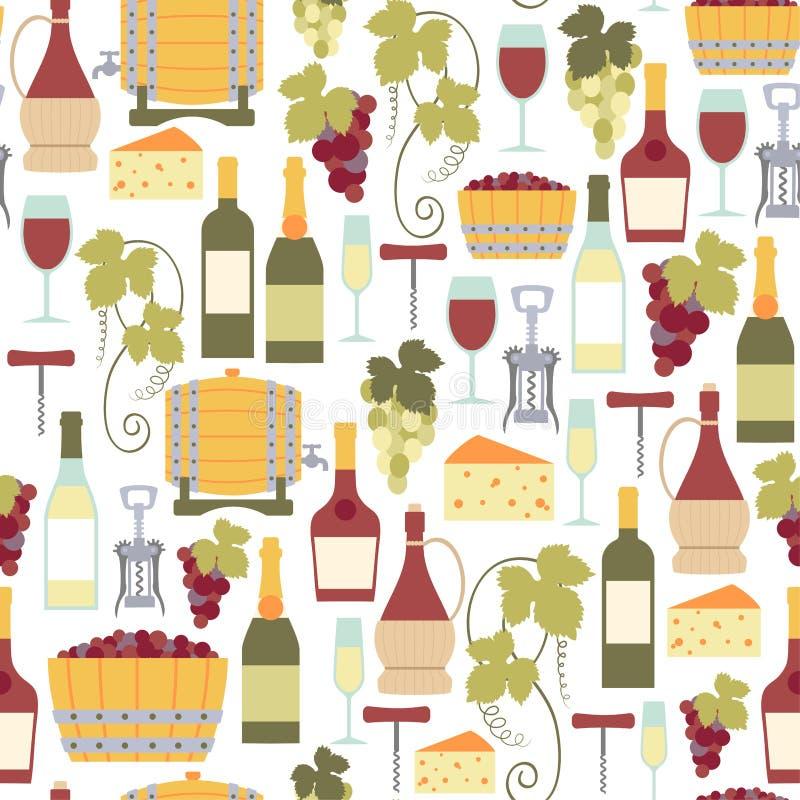 Modello del vino royalty illustrazione gratis