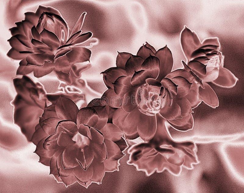 Modello delicato sensuale in tonalità di marrone illustrazione di stock