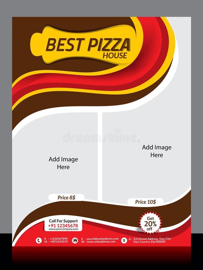 Modello dell'aletta di filatoio del deposito della pizza royalty illustrazione gratis