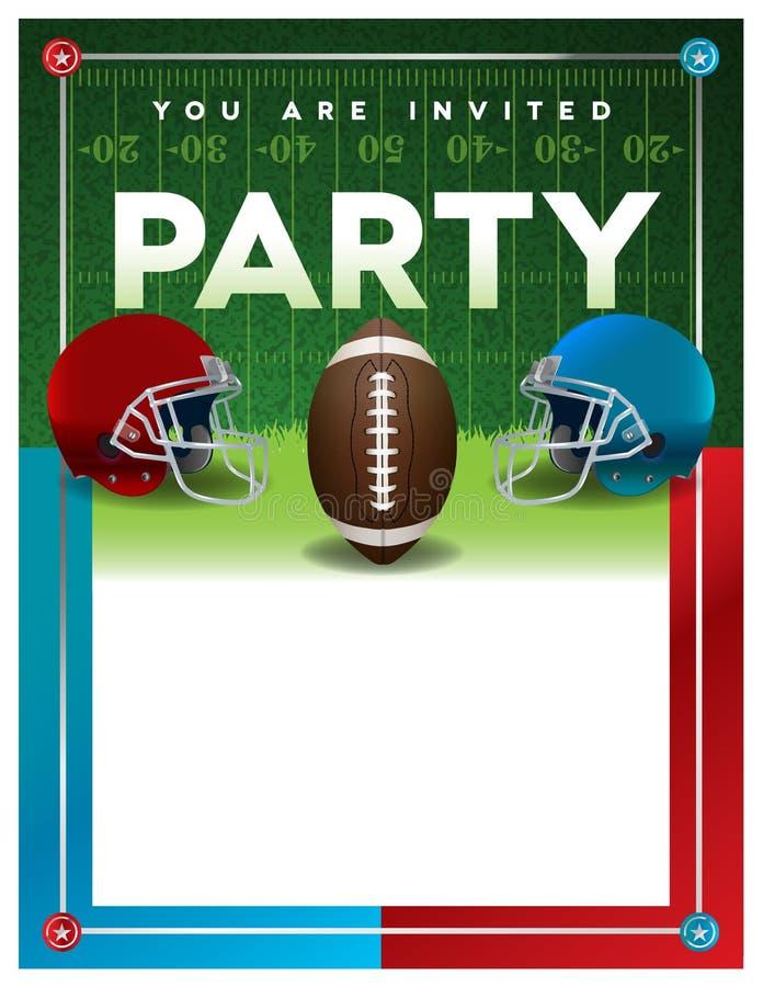 Modello dell'aletta di filatoio del partito di football americano illustrazione di stock