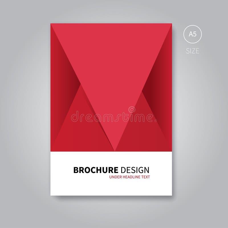 Modello dell'aletta di filatoio dell'opuscolo per progettazione del libro royalty illustrazione gratis