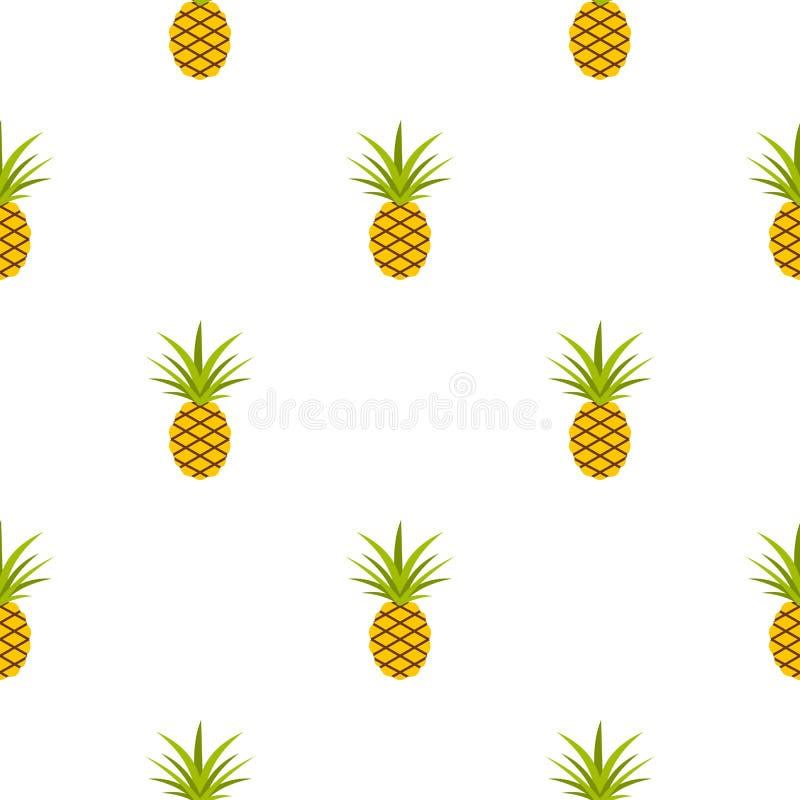 Modello dell'ananas senza cuciture illustrazione vettoriale