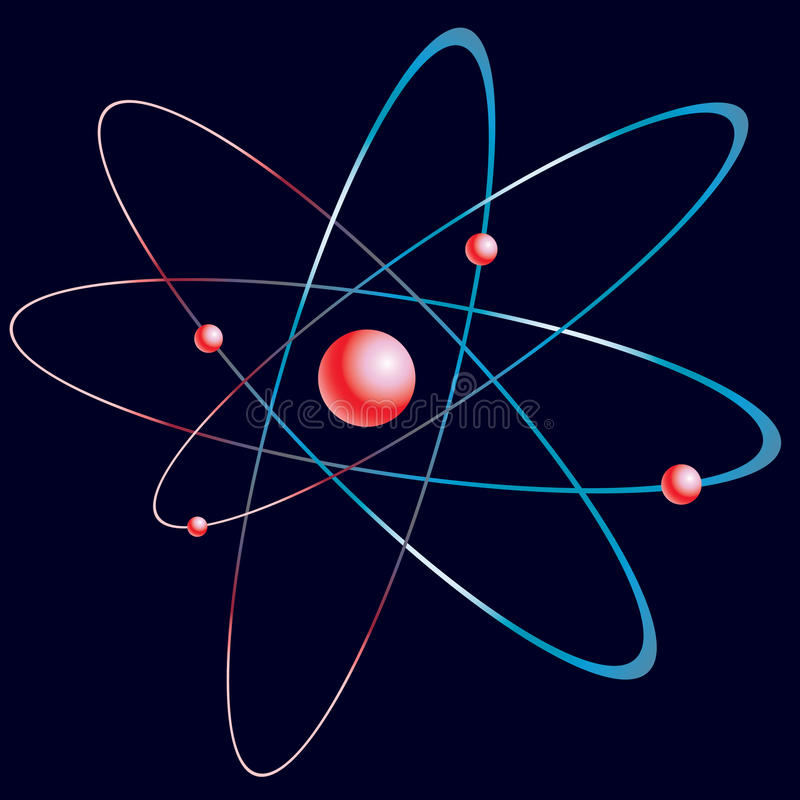 Modello dell'atomo. royalty illustrazione gratis