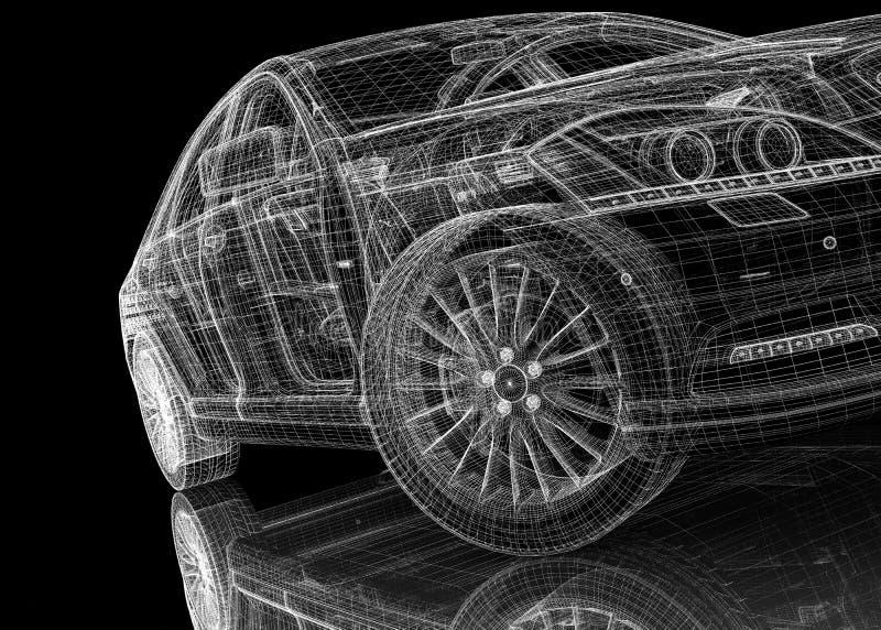 Modello dell'automobile 3D illustrazione vettoriale