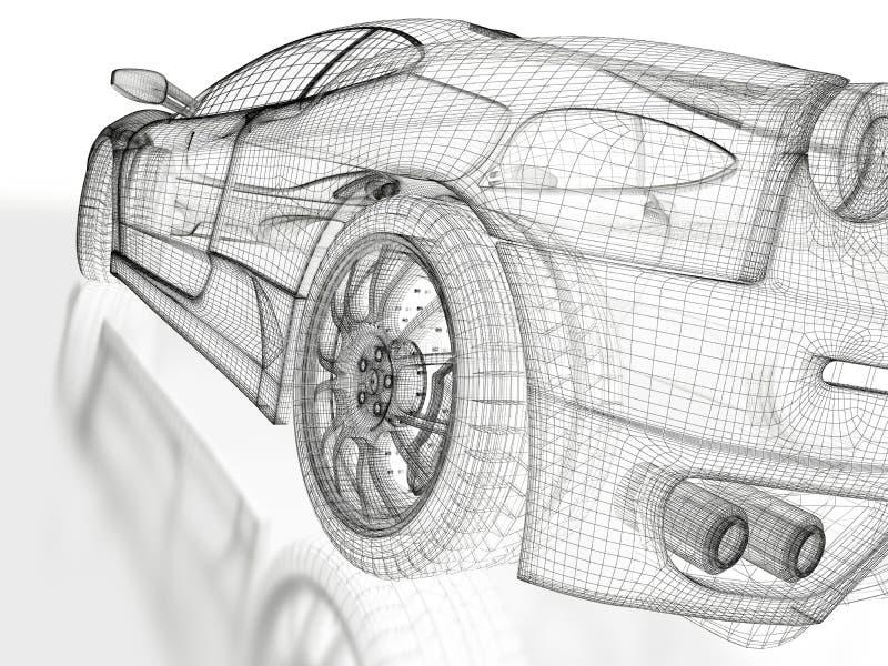 Modello dell'automobile sportiva illustrazione di stock