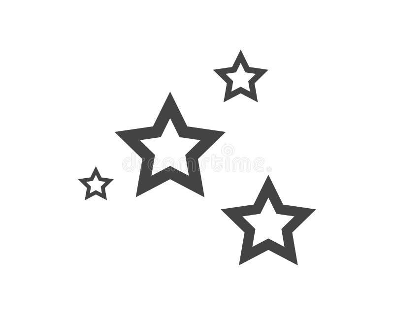 Modello dell'icona della stella illustrazione di stock