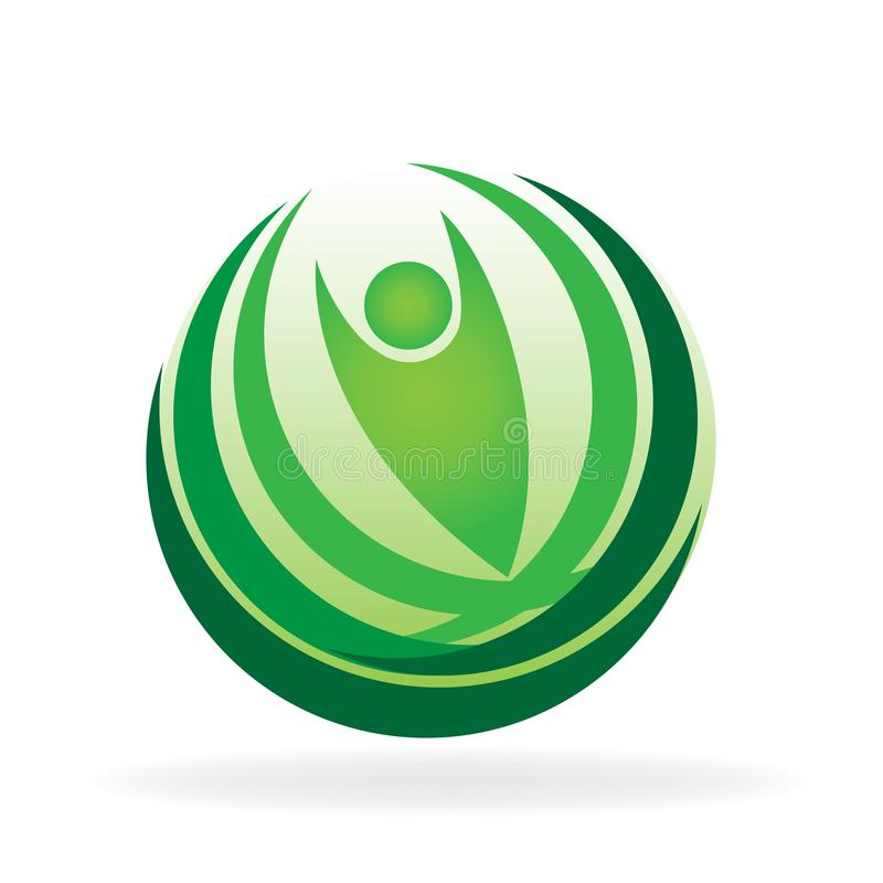 Modello dell'icona di logo della carta di identità di web di vettore della natura di salute illustrazione vettoriale