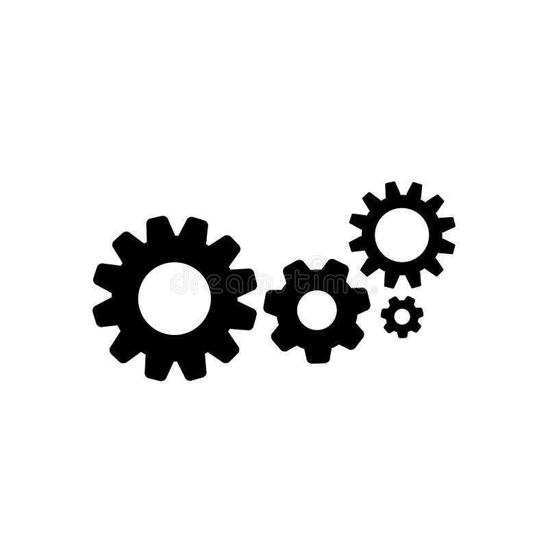 Modello dell'icona dell'ingranaggio illustrazione di stock