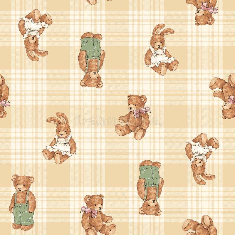 Modello dell'illustrazione dell'orso illustrazione vettoriale