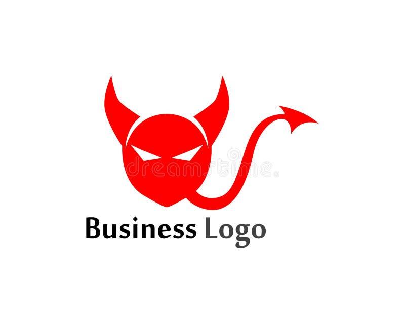 Modello dell'illustrazione di progettazione dell'icona di vettore del corno del diavolo illustrazione vettoriale