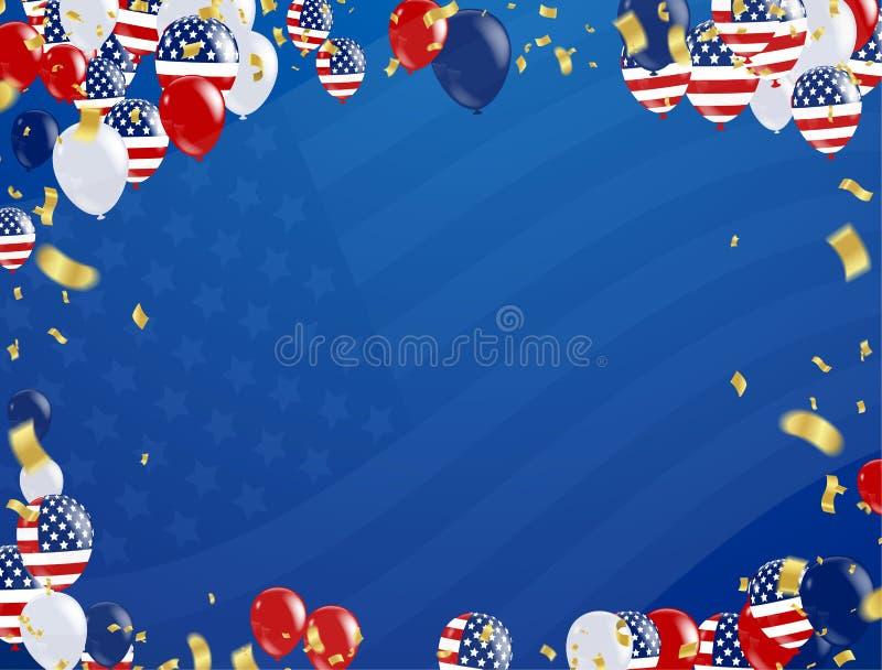 Modello dell'insegna di pubblicità di promozione di vendita di festa del lavoro L americana illustrazione di stock