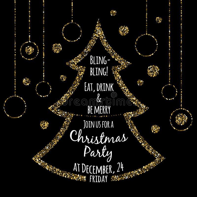 Modello dell'invito della festa di Natale royalty illustrazione gratis