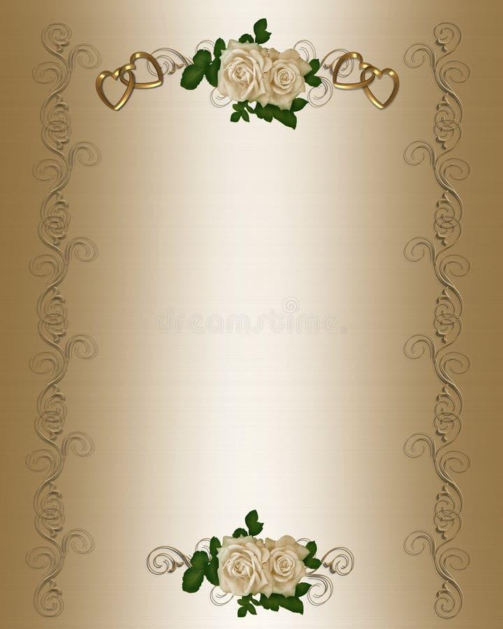 Modello dell'invito di cerimonia nuziale royalty illustrazione gratis