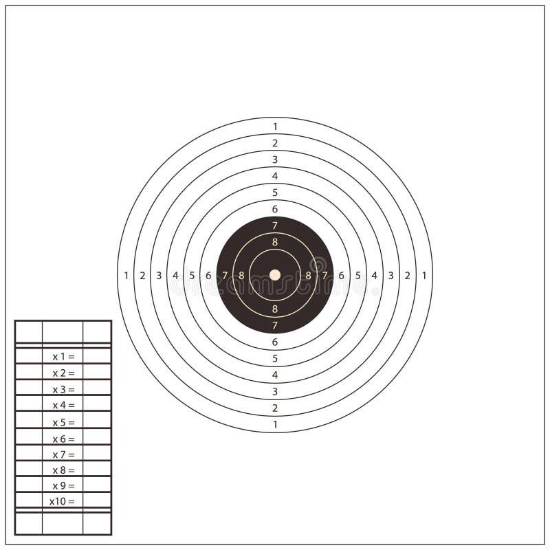 Modello dell'obiettivo della gamma di fucilazione Vettore royalty illustrazione gratis