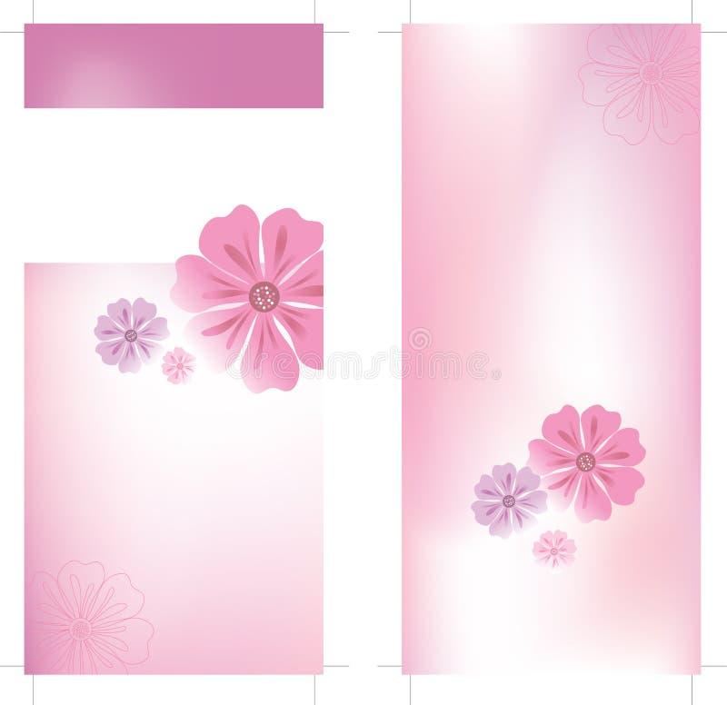 modello dell'opuscolo della scheda della cremagliera 4x9 royalty illustrazione gratis