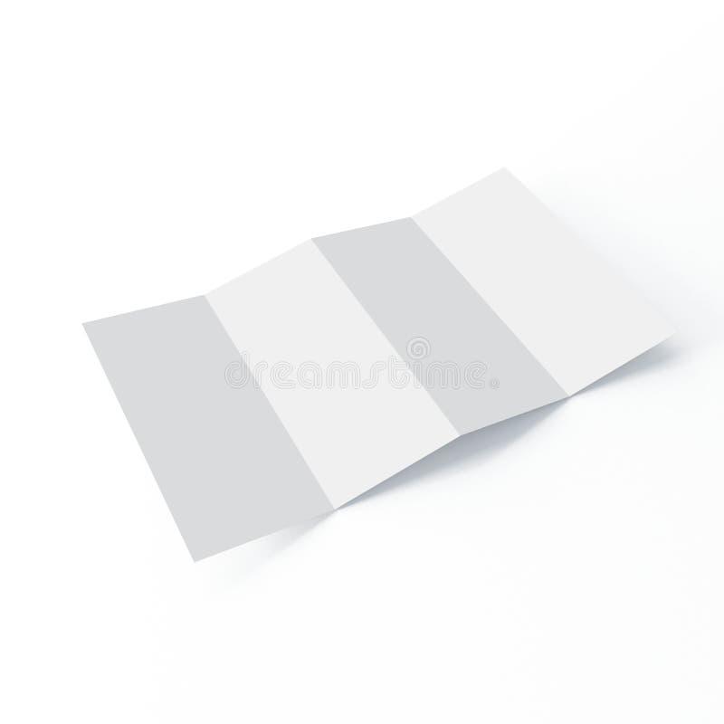 Modello dell'opuscolo di quattro volte su fondo bianco isolato illustrazione vettoriale