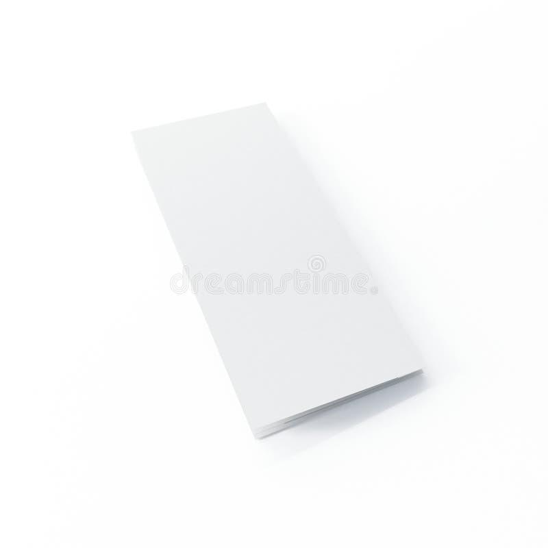 Modello dell'opuscolo di quattro volte su fondo bianco isolato illustrazione di stock