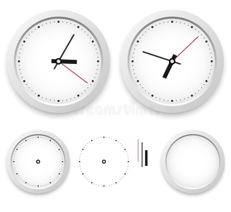 Modello dell'orologio di parete illustrazione di stock