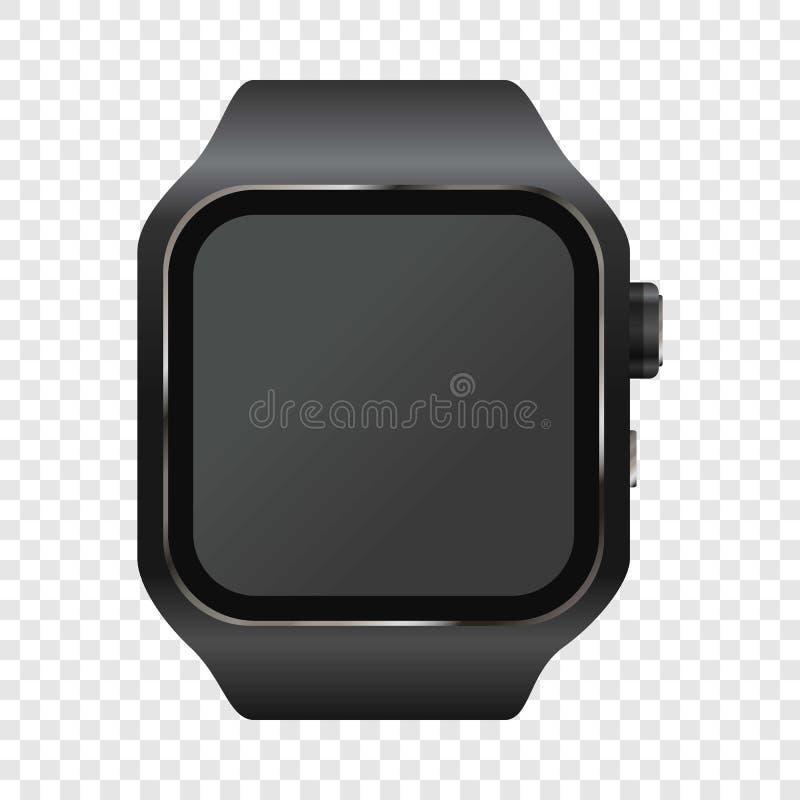 Modello dell'orologio digitale del polso, stile realistico illustrazione di stock