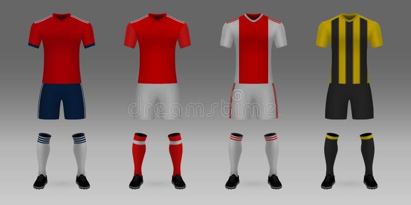 Modello dell'uniforme della squadra di football americano royalty illustrazione gratis