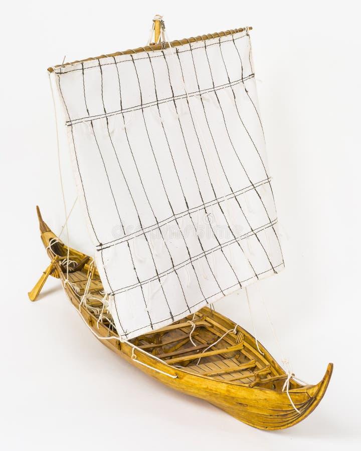 Modello della barca di Viking fotografia stock libera da diritti