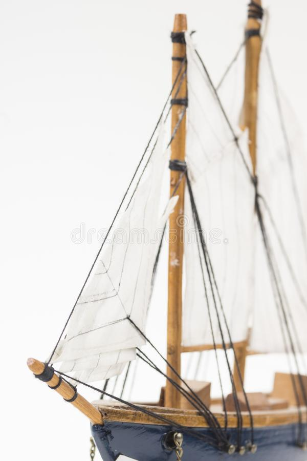 Modello della barca a vela immagine stock