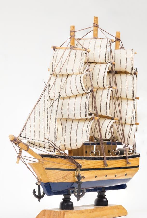 Modello della barca a vela fotografia stock