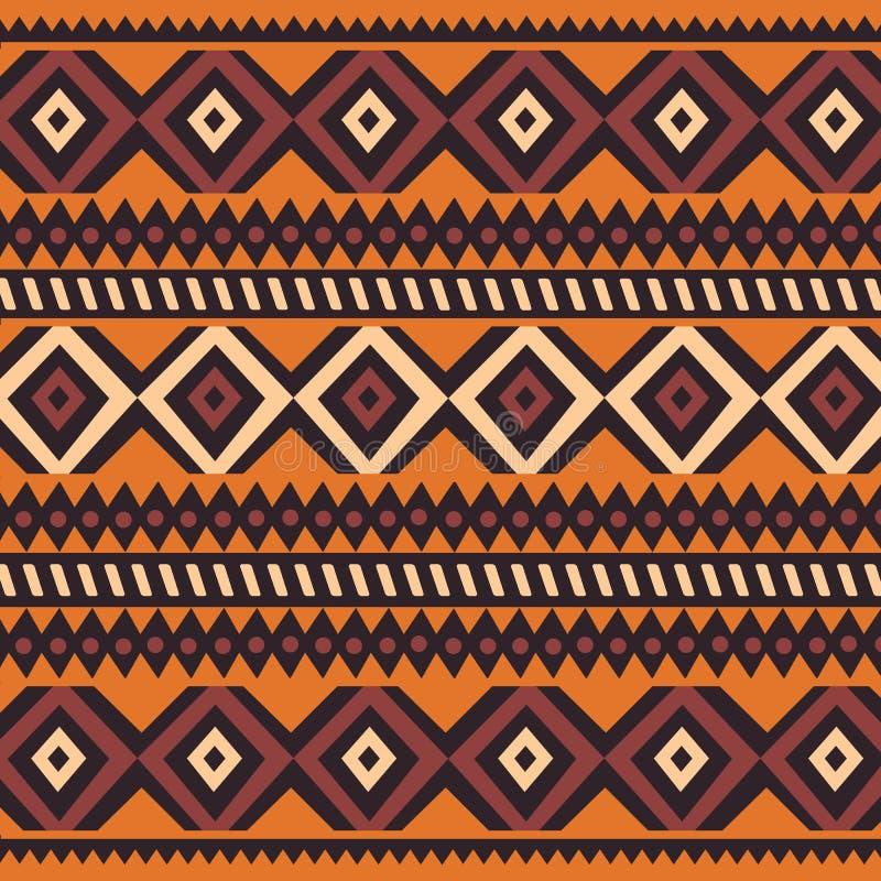 Modello della Boemia variopinto etnico tribale con gli elementi geometrici, panno africano del fango, progettazione tribale illustrazione vettoriale