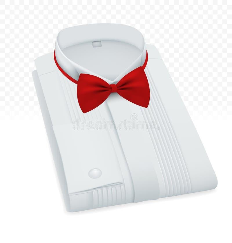 Modello della camicia piegato spazio in bianco maschio convenzionale fotografie stock libere da diritti