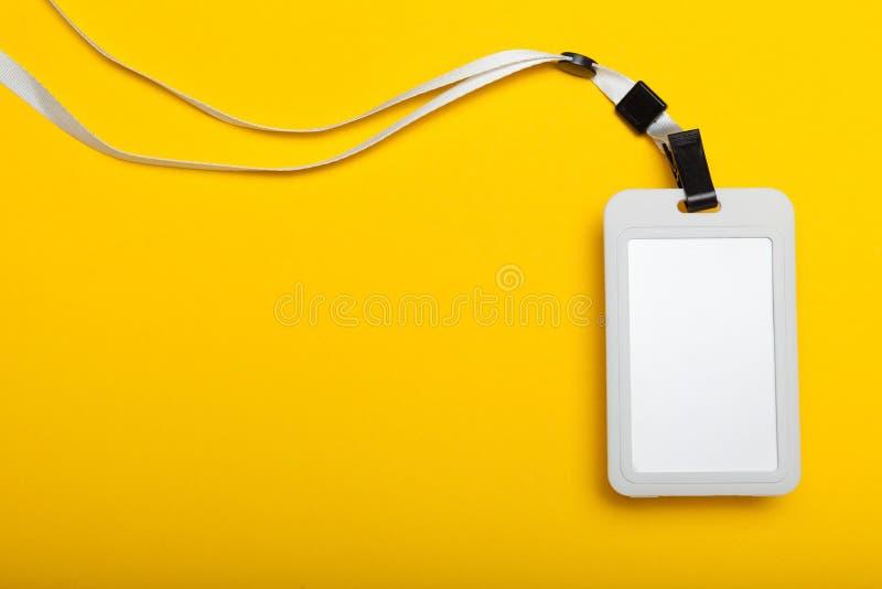 Modello della carta di etichetta di nome dell'identificazione, identificazione del distintivo, accesso di evento fotografia stock libera da diritti
