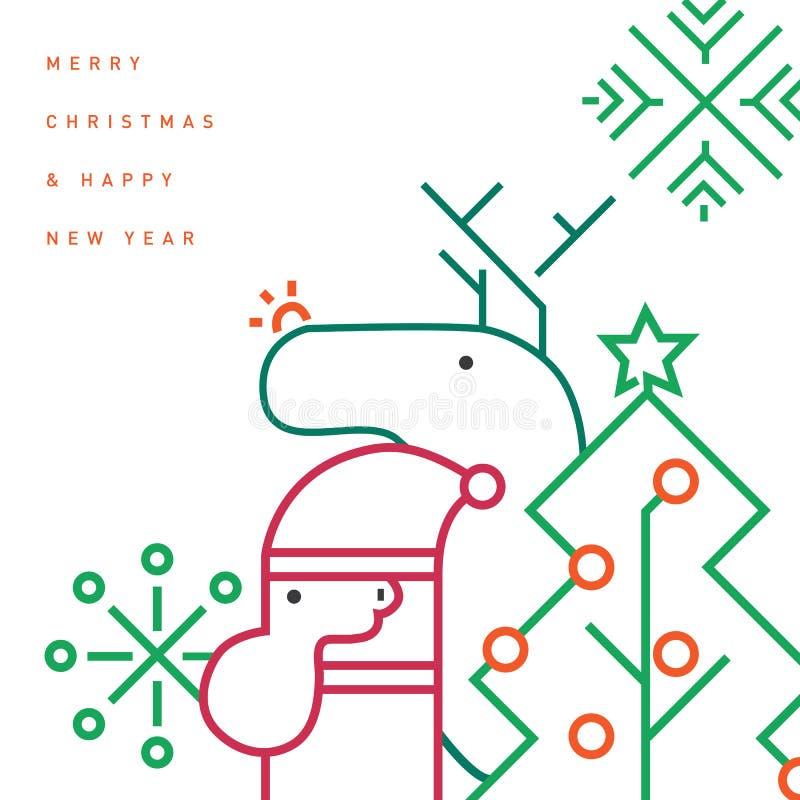 Modello della cartolina d'auguri di Natale vettore/illustrazione fotografia stock libera da diritti