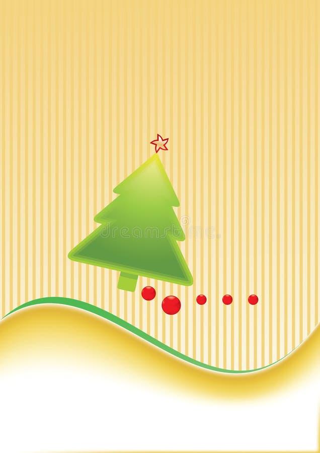 Modello della cartolina di Natale royalty illustrazione gratis