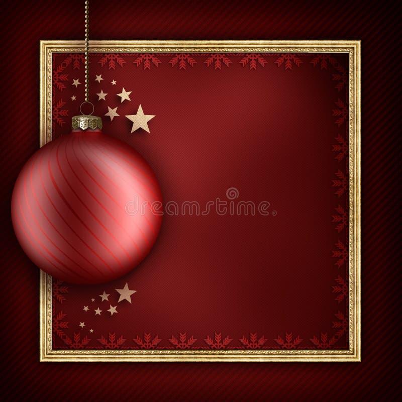 Modello della cartolina di Natale illustrazione di stock