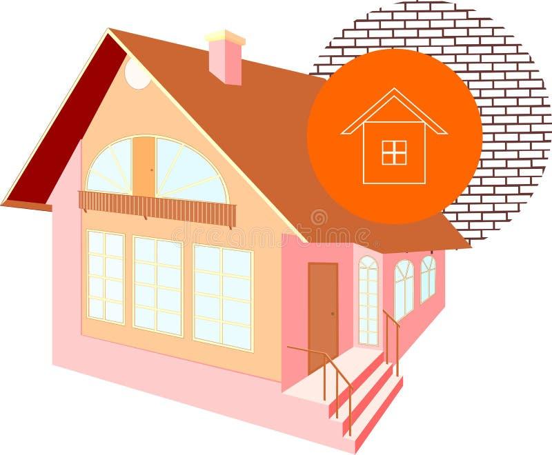 Modello della casa illustrazione di stock