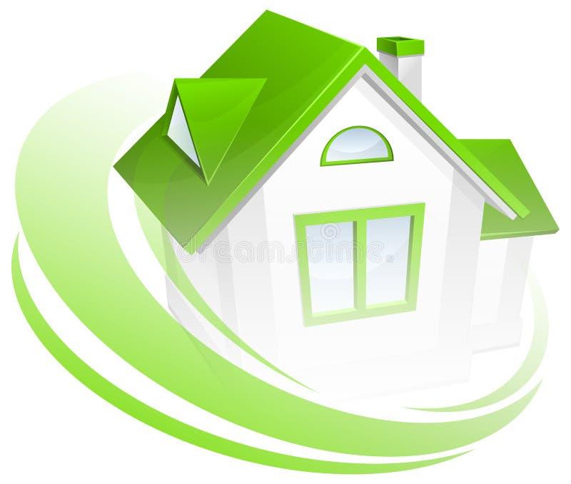 Modello della casa con il cerchio royalty illustrazione gratis