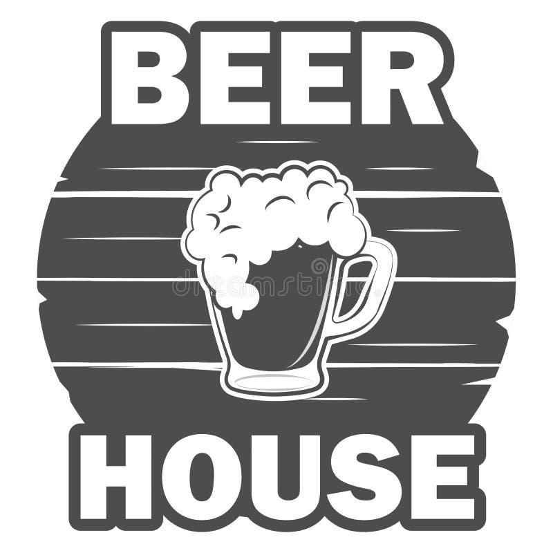 Modello della casa della birra royalty illustrazione gratis