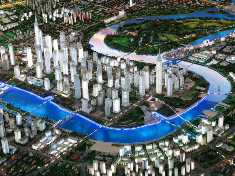 Modello della città immagini stock