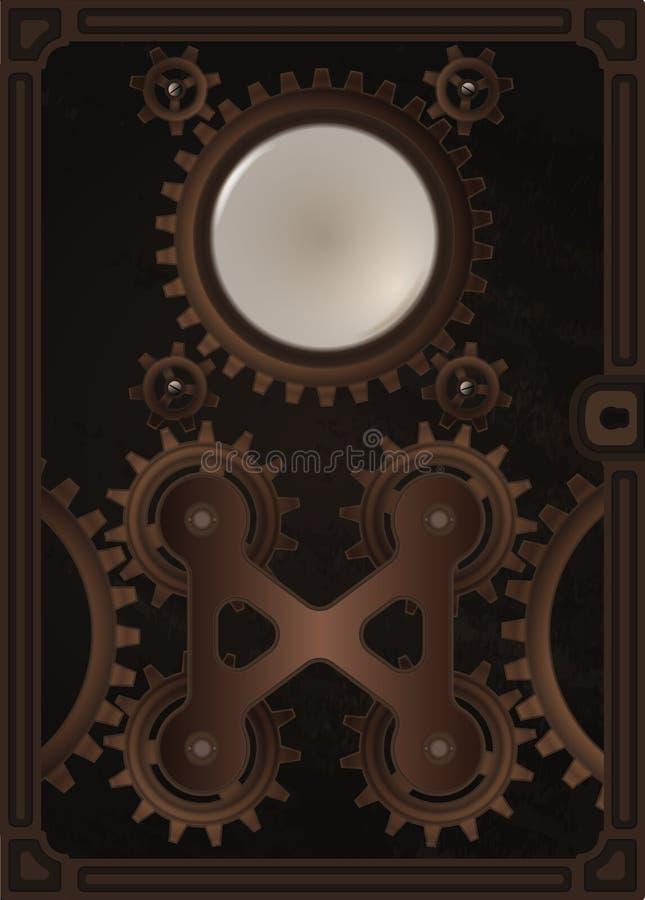 Modello della copertina di libro di Steampunk illustrazione di stock