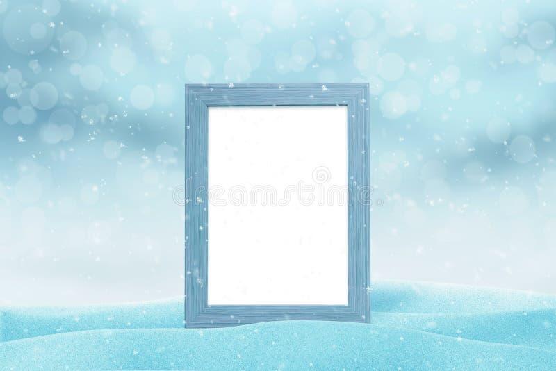 Modello della cornice per la cartolina d'auguri del nuovo anno fotografie stock