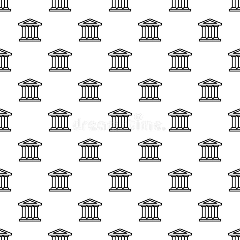 Modello della costruzione della Banca senza cuciture illustrazione vettoriale