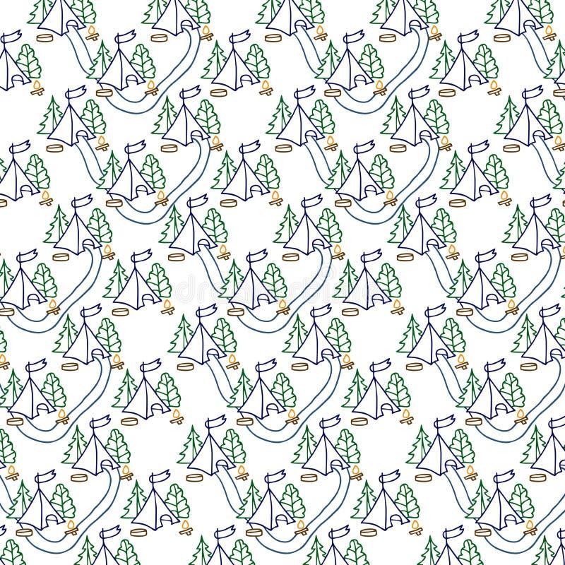 Download Modello Della Luce Naturale Che Consiste Delle Tende, Degli Alberi, Dei Percorsi E Della Bandiera Del Fuoco Di Accampamento Illustrazione Vettoriale - Illustrazione di percorsi, illustrazione: 56879692