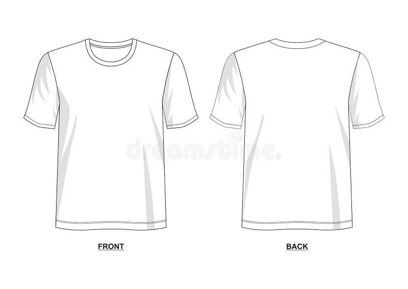 Modello della maglietta di vettore di progettazione illustrazione di stock