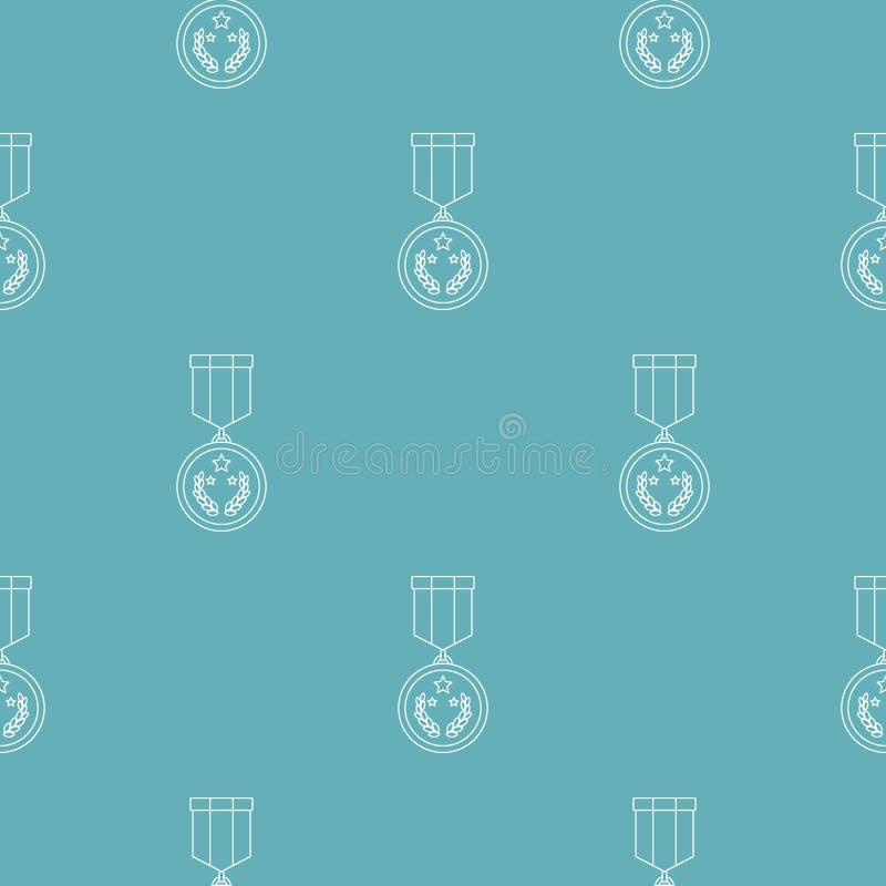 Modello della medaglia senza cuciture illustrazione di stock