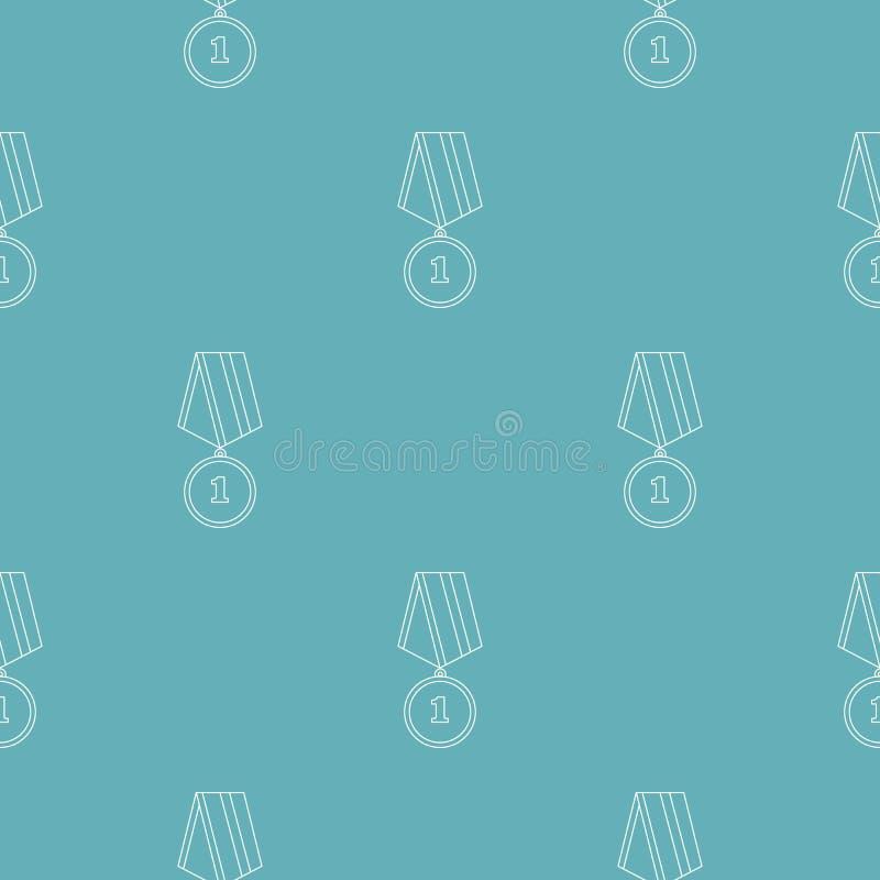 Modello della medaglia senza cuciture royalty illustrazione gratis