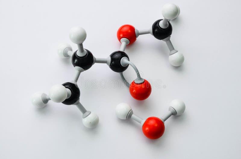 Modello della molecola di chimica organica immagine stock libera da diritti
