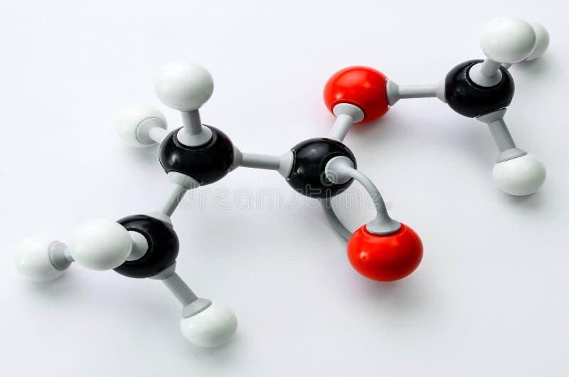 Modello della molecola di chimica organica fotografia stock libera da diritti