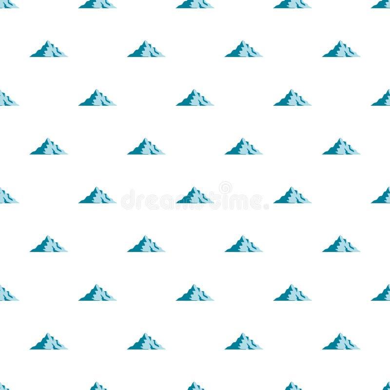 Modello della montagna della neve senza cuciture illustrazione vettoriale