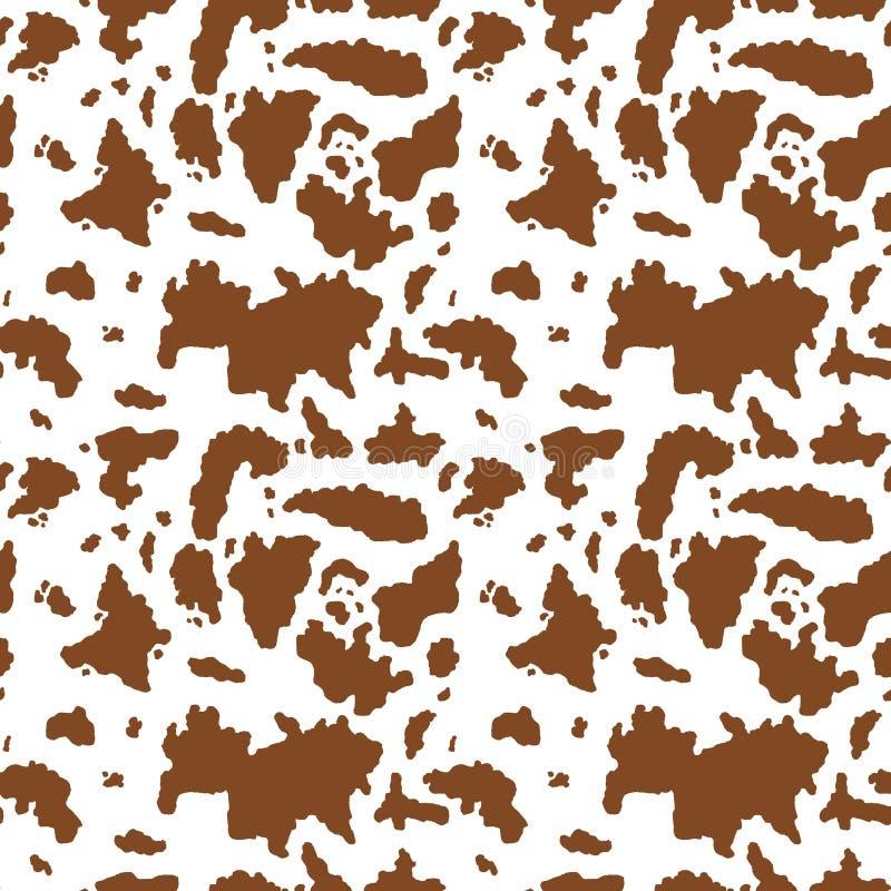 Modello della mucca di Brown illustrazione vettoriale